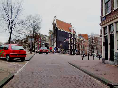 Prinsengracht near The Anne Frank Museum in Amsterdam